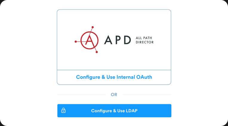 Authentication options such as LDAP and inbuilt login mechanism available in APD to login & define user roles & permissions